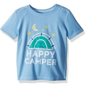 Life is Good 4T Blue Happy Camper T-shirt